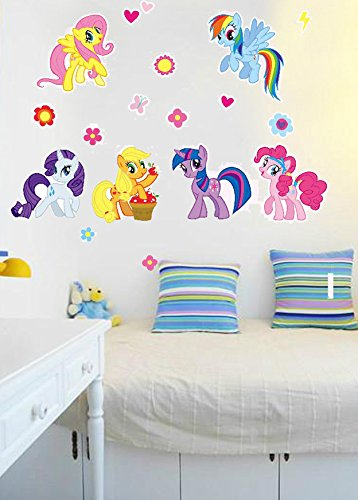Donass 2018 My Little Pony Removable Vinyl Wall Sticker Mural Decal