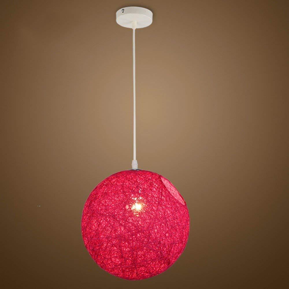 AJ Kreative Haushaltsbeleuchtung Schlafzimmer Wohnzimmer Persönlichkeit Lampen und Kronleuchter Ma Ball Bars Einstellbare Rot Durchmesser20 cm