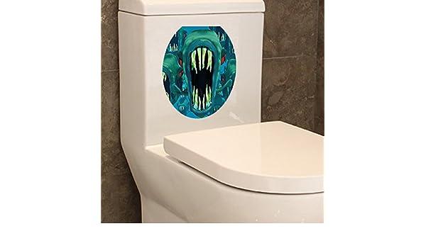 GOUZI 3D WC-Decorado Carteles Waterproof 30 * 36cm Pared ...