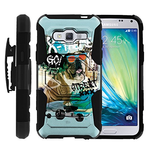 Samsung Galaxy J3 Case| Express Prime| Amp Prime Case |[Armor Reloaded] Rugged Hard Rubber Durable Unique Creative Cover + Belt Clip by Miniturtle - Skateboard Bulldog (Armor Express Bulldog compare prices)