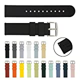ARCHER Watch Straps Quick Release Silicone Soft Rubber Replacement Bands (18mm, 20mm, 22mm)