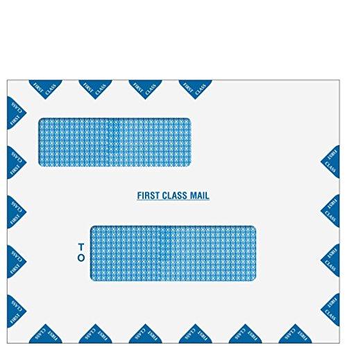 9 1/2'' x 12'' Double Window First Class Mail Envelope - Peel & Seal (UltraTax) by Tech Checks
