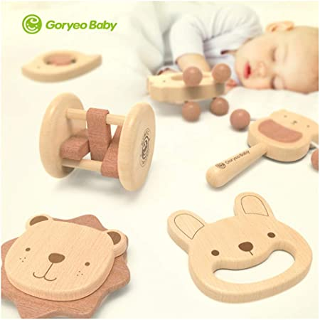 WHQ GoryeoBaby Madera Campanilla 6 Pack bebé recién Nacido 3612 ...