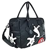 A39.Disney Mickey Mouse Men Women Travel Weekend Duffel Luggage Overnight Bag (Black)