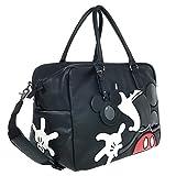 A39.Disney Mickey Mouse Men Women Travel Weekend Duffel Luggage Overnight Bag (Black)