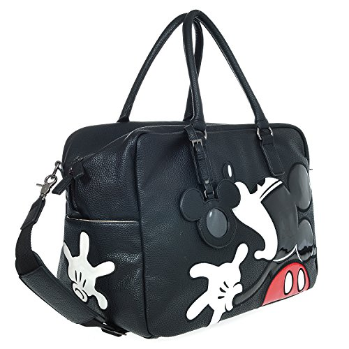 A39.Disney Mickey Mouse Men Women Travel Weekend Duffel Luggage Overnight Bag (Black) by Disney