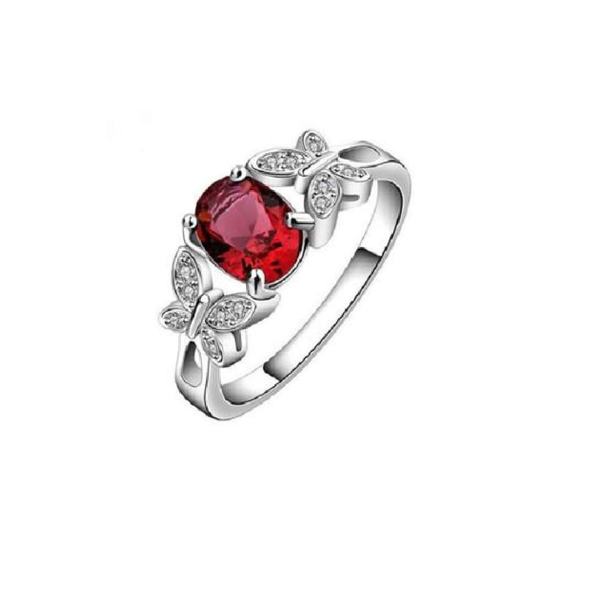 Socialfloats Butterfly Cubic Zirconia Silver Plated Ring