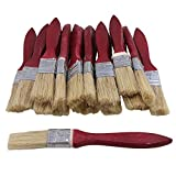 "20pcs Low Cost Paint Brushes or Chip Brush with Red Wooden Handle,1.5"" Width for Paint,Stain,Varnish, Gesso, Primer, Glue (1'')"