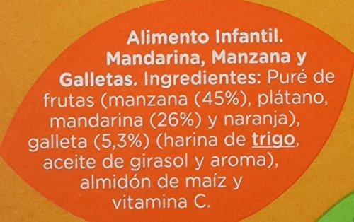 Hero Baby Tarrito Fruta Merienda Mandarina Manzana Galleta - 2 Unidades x 190 gr: Amazon.es: Alimentación y bebidas