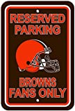 NFL Cleveland Browns Plastic Reserved Parking Sign, One Size, Orange