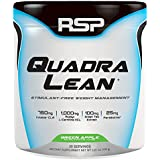RSP QuadraLean Stimulant Free Fat Burner Powder, Weight Loss Supplement, Appetite Suppressant & Metabolism Booster, Diet Powder for Men & Women (Green Apple, Powder, 30 servings)