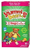 omega 3 for children - Yummi Bears Fish Free Omega 3 with Chia Seed Supplement for Kids, 90 Gummy Bears