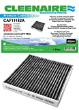 Cleenaire CAF11182A The Most Advanced Protection Against SMOG Bacteria Dust Viruses Allergens Gases Odors Cabin Filter For 09-16 Honda Fit 16-17 Civic 11-16 CR-Z 10-14 Insight
