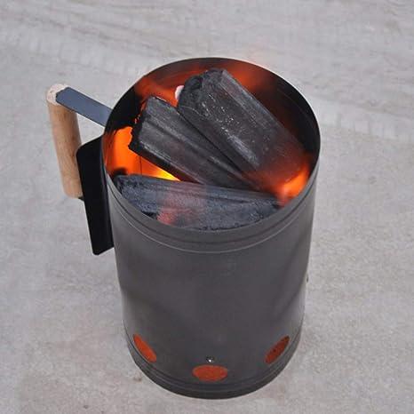 JIALI Barril de Fuego, carbón portátil, Estufa de Carbono, Estufa de leña,