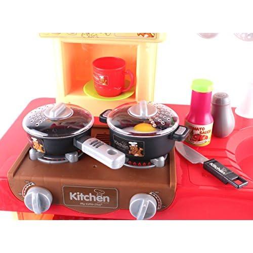 kc2 r deao cuisine jouet avec plusieurs accessoires inclus rouge 11bchm0103327. Black Bedroom Furniture Sets. Home Design Ideas