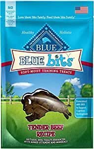 Blue Bits Beef Recipe Dog Treats 4-oz