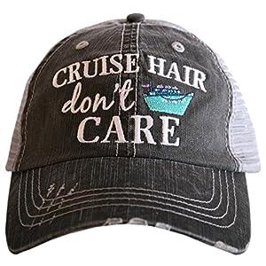 KATYDID Cruise Hair Don't Care Baseball Hat – Trucker Hat for Women – Stylish Cute Ball Cap