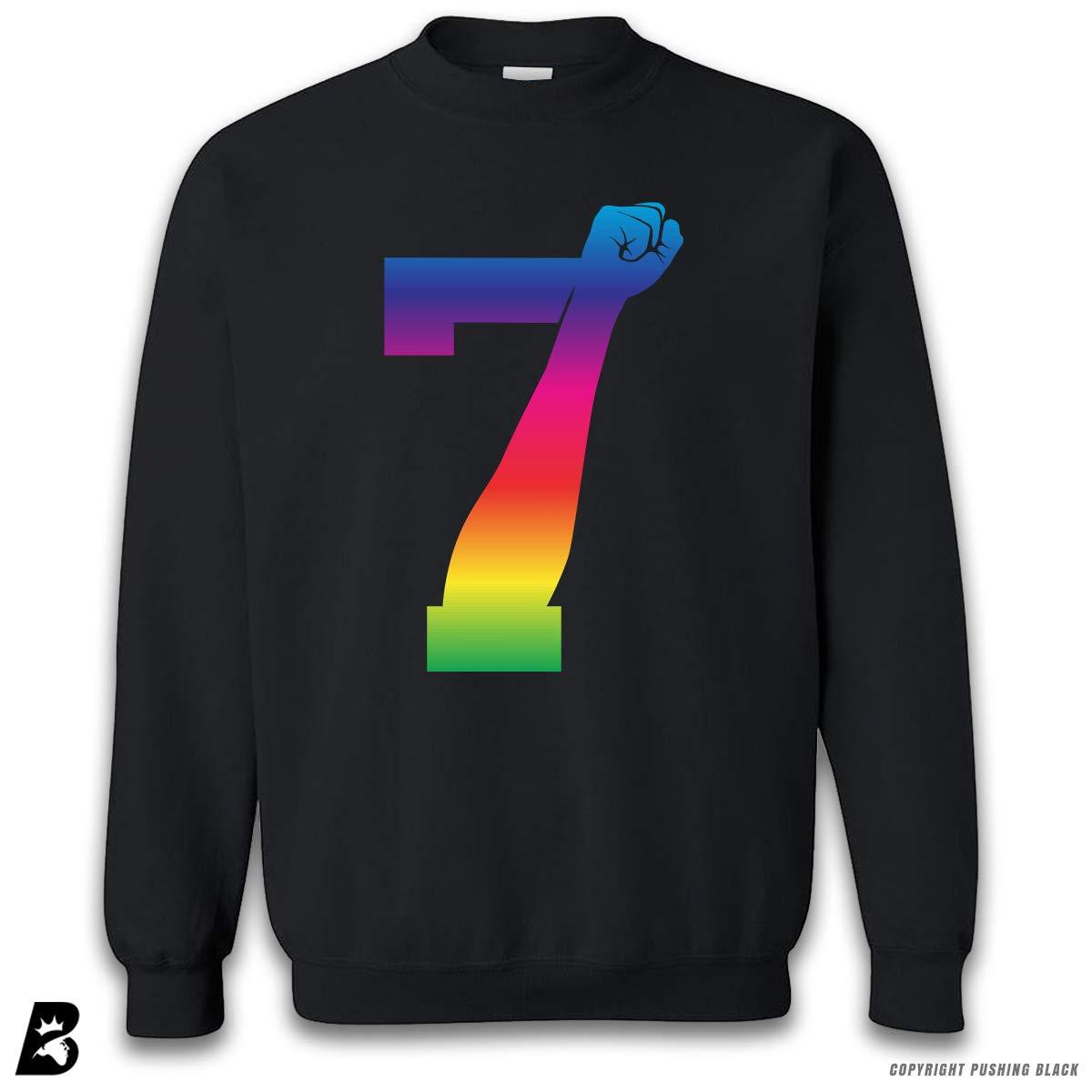 Rainbow Premium Unisex Sweatshirt 7 Fist Up High