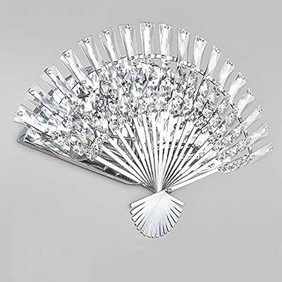 Creative Living Room Fan Crystal Wall Lamp Bedroom Bedside Lamp Aisle Corridor Staircase Wall Light ( Design : 45-2 )