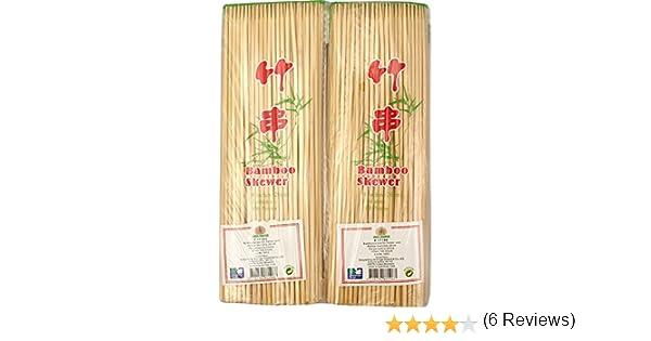 Compra JADE TEMPLE 17196 bambú Pinchos para satay de y kebap de Platos, bambú, marrón 23.5 x 1.5 x 7 cm en Amazon.es