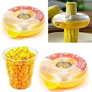 Kitchen Tools & Gadgets Kitchen Tool Doughnut Shaped Washable One Step Corn Stripper Thresher Peeler New