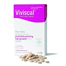 Viviscal Extra Strength nourishes thinning hair and promotes existing hair growth* from within. At Viviscal we understand hair. Statistics show that a whole range of factors, including stress, hormonal changes, overstyling, poor nutrition, ag...