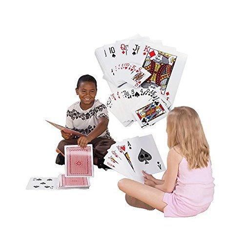 Giant Jumbo Deck of Big Playing Cards Fun Full Poker Game Set - Measures 8-1/4