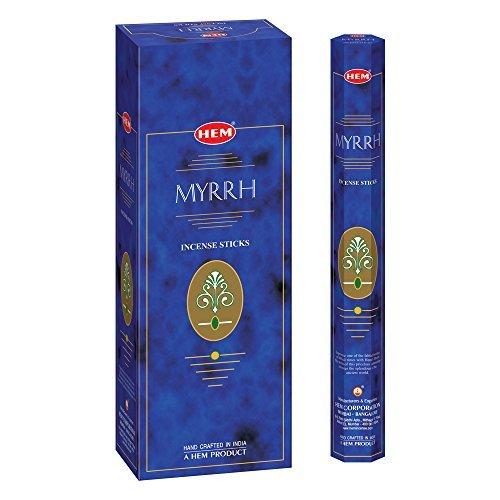 Myrrh - Box of Six 20 Gram Tubes - HEM Incense ()