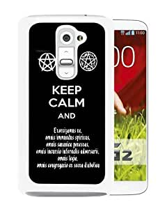 Popular LG G2 Case, Beautiful Designed Case With Supernatural Keep Calm And Exorcise White LG G2 Cover