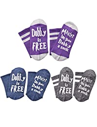 BELUPAI 3-Pack Master Has Given Dobby a Sock, Chic Women Men Socks Funny with Sayings