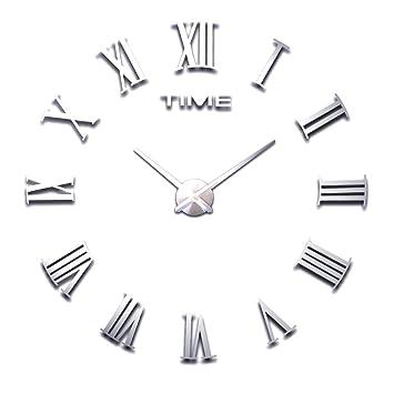 HOME IMPRESSION (multi-estilo) moderna 3D reloj de pared sin marco grande, diámetro 60-130cm grandes ...