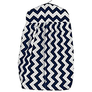 Baby Doll Bedding Chevron Diaper Stacker, Navy