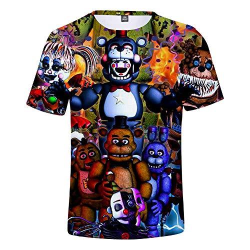 Boys 3D FNAF T Shirt Kids Five Nights at Freddy's T-Shirt (12, A) (Fnaf Ds)