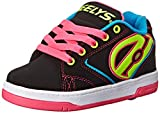 Heelys Propel Skate Shoe (Little Kid/Big Kid), Black Neon, 6 M US Big Kid