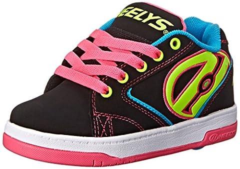 Heelys Propel Skate Shoe (Little Kid/Big Kid), Black Neon, 2