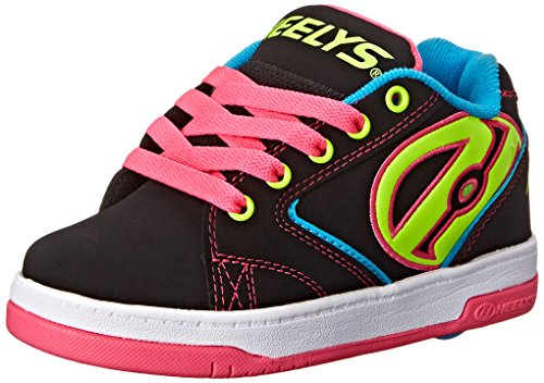 Heelys Propel Skate Shoe (Little Kid/Big Kid), Black Neon, 6 M US Big Kid by Heelys