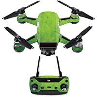 Skin for DJI Spark Mini Drone Combo - Green Cement| MightySkins Protective, Durable, and Unique Vinyl Decal wrap cover | Easy To Apply, Remove, and Change Styles | Made in the USA