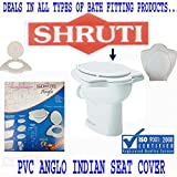 SHRUTI Pvc Anglo Indian Heavy Duty Toilet Commode Seat Cover- White (2261)