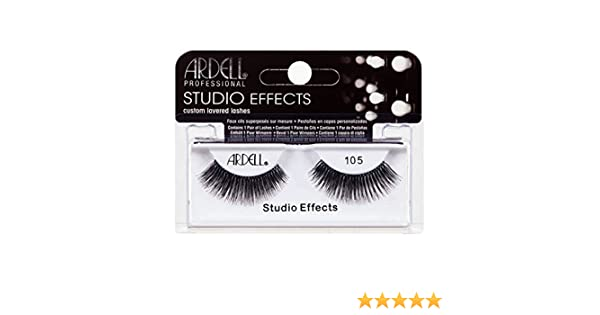 7390397bbc2 Amazon.com : (6 Pack) ARDELL Studio Effects Custom Layered Lashes 105 Black  : Beauty
