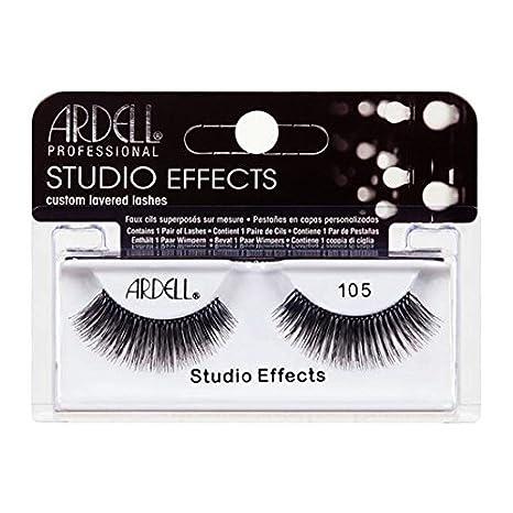 c0561d328f0 Amazon.com : (6 Pack) ARDELL Studio Effects Custom Layered Lashes 105 Black  : Beauty