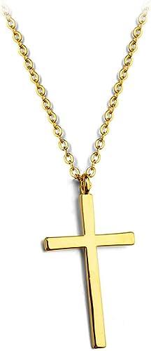 Amazon Com Simple Smooth Cross Pendant Necklace Fashion Jewelry