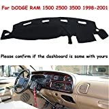 FLY5D Dash Cover Dashboard Cover Mat Dash Pad for Dodge Ram 1500 / 2500 / 3500 (1994-2001 DODGE RAM)