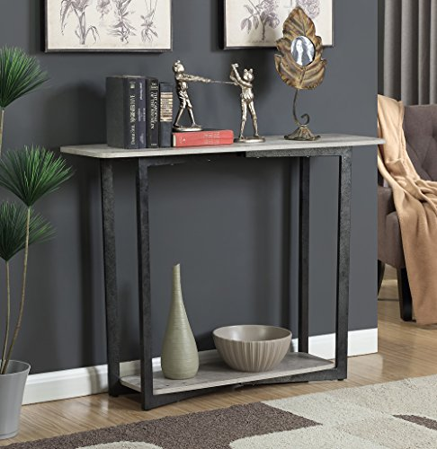 Convenience Concepts Graystone Console Table, Faux Birch For Sale