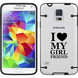 Black Samsung Galaxy Ultra Thin Transparent Clear Hard TPU Case Cover I Love My Girlfriend (Black for S4)