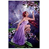 fairy paint by number - Whitelotous 35x25cm DIY Diamond Butterfly Fairy Painting Cross Stitch Needlework Crafts