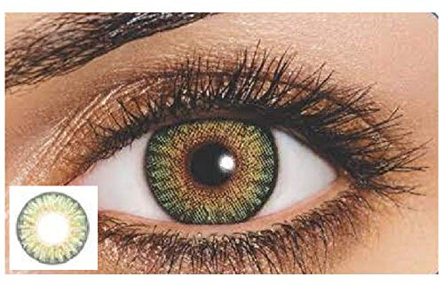 New Look Eyes Multi-Color Contact Lenses Eyes Cute Colored Charm and Attractive Blends Cosmetic Makeup Eye Shadow (Green)