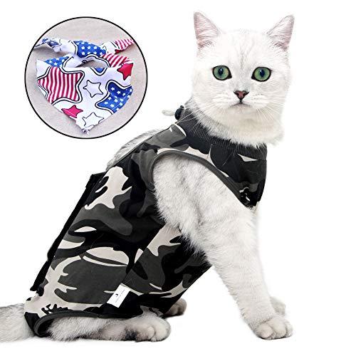 Sunlane Recovery Suit Katze,Postoperative Katze-Kleidung für Genesung Unterleibsschutz für Wundvernarbung oder Hautkrankheiten, Kleidung nach der Operation