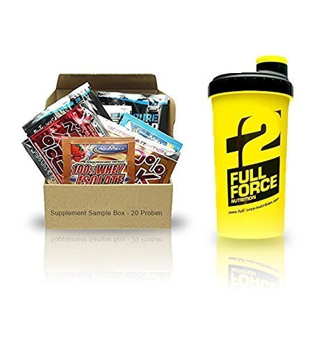 Supplement Sample Box?-?20?Sample Various Manufacturer + SHAKER by Supplement Sample Box