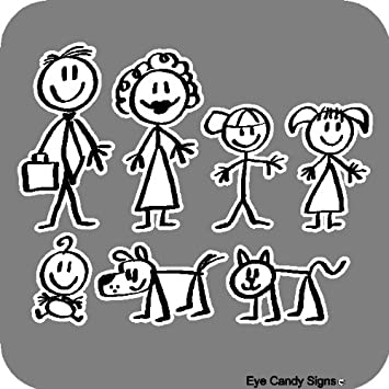Stick People Family Car Decals Stickers Graphics Item