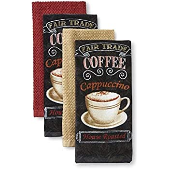 Amazon Com Essential Home 4 Piece Kitchen Towel Set Morning Treat